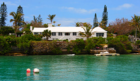 Holland America Line private residence along the Bermuda waterfront