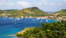 Holland America Line view at the caribbean island of Martinique