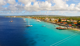 Holland America Line view of Kralendijk Bonaire