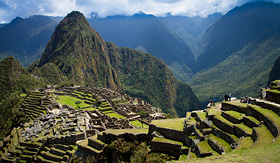 Holland America Line view of Macchu Picchu and Huayna Picchu