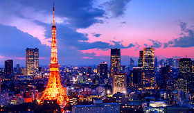 Holland America Line view of Tokyo Tower in Japan