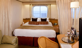 Holland America staterooms Ocean-view