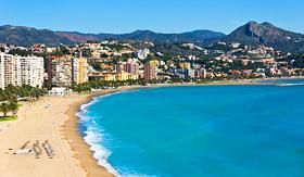 MSC Cruises beautiful view of Malaga City Spain