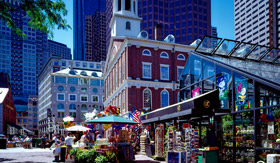 Faneuil Hall in Boston, MA