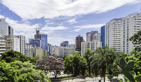 MSC Cruises Skyline of Sao Paulo, Brazil