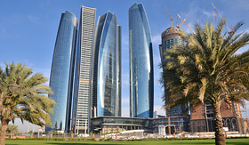 MSC Cruises skyscrapers in Abu Dhabi United-Arab Emirates