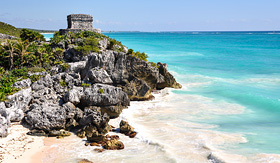 MSC Cruises Tulum Mayan Ruins and beautiful blue water in Mexico
