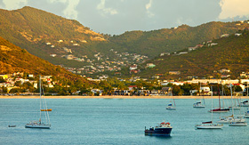 MSC Cruises view of Philipsburg, St. Martin, from the sea