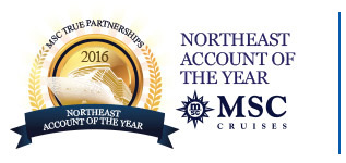 MSC Cruises - 2016 Northeast Account of the Year