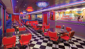 NCL dining 22hr Cadillac Diner