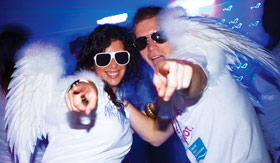 NCL onboard activities White Hot Party