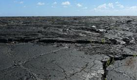 Lava field in Hawaii
