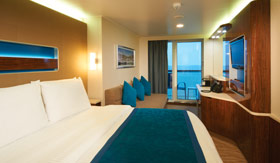NCL staterooms Mini Suite and Balcony