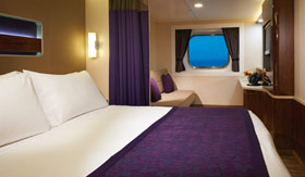NCL staterooms Oceanview, inside, and studios