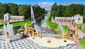 Peterhof Palace and Gardens in St. Petersburg, Russia