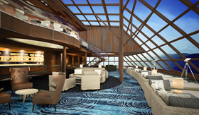 The Haven Observation Lounge aboard Norwegian Bliss