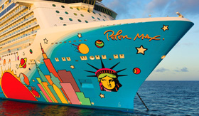 Norwegian Breakaway New York hull art