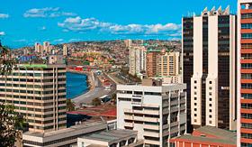 Norwegian Cruise Line city center of Valparaiso, Chile