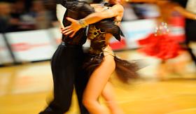 Norwegian Cruise Line couple tango dancing
