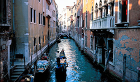 Norwegian Cruise Line gondola serenade in Venice