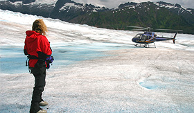 Norwegian Cruise Line helicopter trek on Mendenhall Glacier