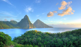 St. Lucia scenery and mountains
