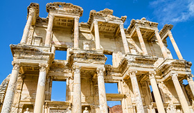 Norwegian Cruise Line Library of Celsus in Ephesus Turkey