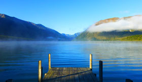 Lake Rotoiti in New Zealand