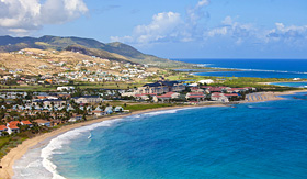 Norwegian Cruise Line overhead view of Resort City in St. Kitts