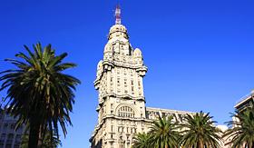 Norwegian Cruise Line Palacio Salvo in Montevideo, Uruguay
