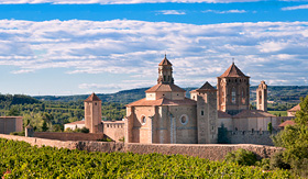 Norwegian Cruise Line Poblet Monastery on Summer day Spain