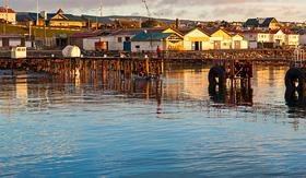 Norwegian Cruise Line Punta Arenas cityscape,Chile