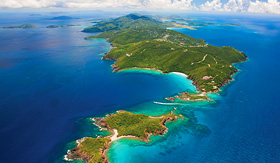 Norwegian Cruise Line St Thomas US Virgin Islands aerial