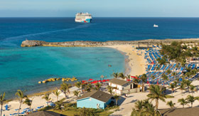 Aerial view of Great Stirrup Cay