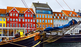 Oceania Cruises Copenhagen Denmark houses in Seafront Nyhavn