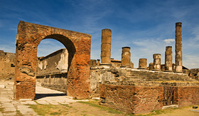 Oceania Cruises famous antique site of Pompeii near Naples in Italy