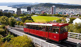 Oceania Cruises famous cable car Wellington New Zealand