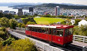 Oceania Cruises famous cable car Wellington New Zealand