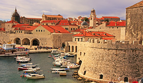 Oceania Cruises Old Harbour at Dubrovnik Croatia