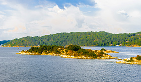 Oceania Cruises Oslofjord an inlet in the south east of Norway