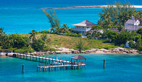 Oceania Cruises picture taken of a residence in Nassau Bahamas