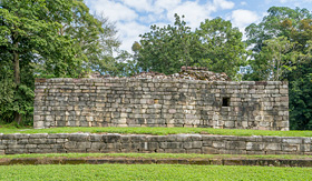 Oceania Cruises remains of Mayan house Guatemala