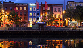 Oceania Cruises riverside buildings in Dublin