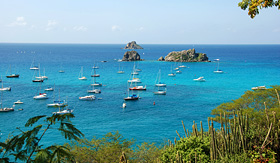 Oceania Cruises sailboats outside Gustavia harbor St Barts