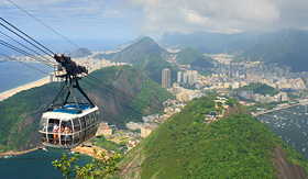 Oceania Cruises Sugar Loaf Mountain cable car