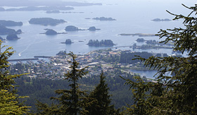 Oceania Cruises the view of Sitka town from Gavan Hill Alaska