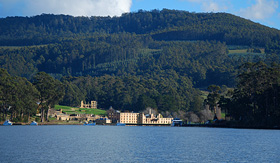 Oceania Cruises view of the Port Arthur in Hobart Tasmania