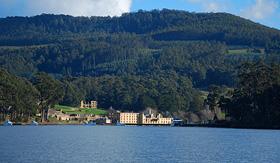 Oceania Cruises view of the Port Arthur in Hobart Tasmania