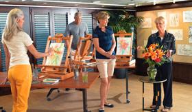 Oceania onboard activities Artist Loft