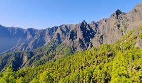 National Park Caldera de Taburiente on the island La Palma, Canary Islands, Spain